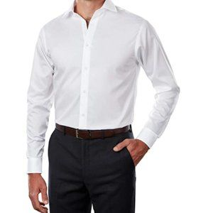 Calvin Klein Men's Dress Shirt Regular Fit Shirt